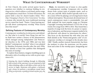 February – What is Contemporary Worship