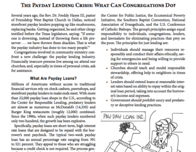 Feb – The Payday Lending Crisis: What Can Congregatgions Do?