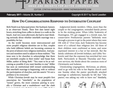 February — How Do Congregations Respond to Interfaith Couples