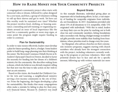 August – How to Raise Money for Your Community Projects