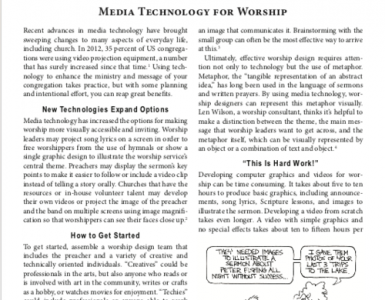 March – Media Technology for Worship