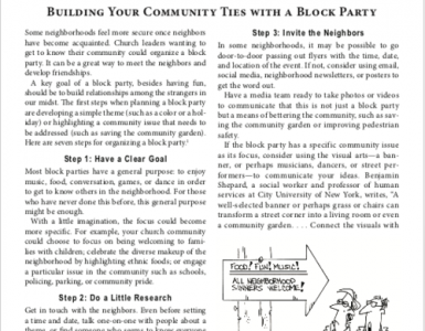 April – Building Your Community Ties with a Block Party