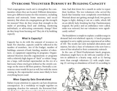 June – Overcome Volunteer Burnout by Building Capacity