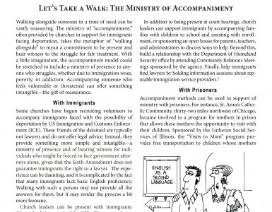 October – Let's Take a Walk_The Ministry of Accompaniment