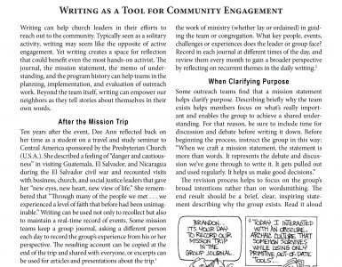 December – Writing as a Tool for Community Engagement