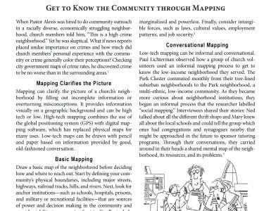 February – Get to Know the Community through Mapping